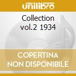 Collection vol.2 1934 cd musicale di Manone Wingy