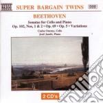 Sonata x vlc n.1 e n.2 op.102, op.69, n. cd musicale di Beethoven ludwig van