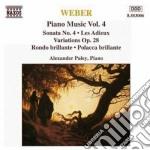 Opere x pf (integrale) vol.4: sonata n.4 cd musicale di Weber carl maria von