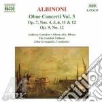 Oboe concerti vol.3 cd musicale di ALBINONI