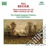 Reger Max - Variazioni E Fuga Su Un Tema Di Mozart Op.132, Variazioni E Fuga Su Un Tema Di H cd musicale di Max Reger