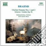 Brahms Johannes - Sonata X Clar N.1 Op.120, N.2 Op.120, Sonatensatz, Lieder Op.91 cd musicale di BRAHMS