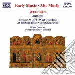Weelkes Thomas - Anthems cd musicale di Thomas Weelkes