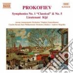 Prokofiev Sergei - Sinfonia N.1 Op.25 Classica, N.5 Op.100, Luogotenente Kije' cd musicale di Sergei Prokofiev