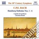 Bach Carl Philipp Emanuel - Sinfonie Amburghesi Nn.1-6 Wq 182 cd musicale di Bach carl philip ema