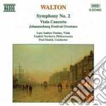 Walton William - Sinfonia N.2, Concerto X Vla, Johannesburg Festival Overture cd musicale di William Walton