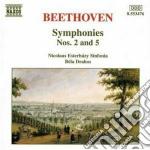 Beethoven Ludwig Van - Sinfonia N.2 Op.36, N.5 Op.67 cd musicale di Beethoven ludwig van
