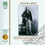 Opere x pf (integrale) vol.11: trascrizi cd musicale di Franz Liszt