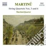 Martinu Bohuslav - Quartetti Per Archi, Vol.2: Quartetti Nn.3 E 6, Duo Per Vl. E Vc, 3 Madrigali cd musicale di Bohuslav Martinu