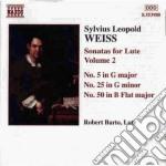 Sonate per liuto (integrale) vol.2: sona cd musicale di Weiss silvius leopol