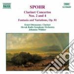 Spohr Louis - Concerto X Clar N.2 Op.57, N.4, Fantasia E Variazioni Su Un Tema Di Danzi Op.81 cd musicale di Louis Spohr