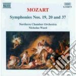 Mozart Wolfgang Amadeus - Sinfonia N.19 K 132, N.20 K 133, N.37 K444 cd musicale di Wolfgang Amadeus Mozart
