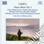 Opere x pf vol. 3 (integrale): 4 fogli d cd musicale di Edvard Grieg