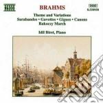 Brahms Johannes - Tema E Variazioni In Re Min, Sarabanda E 2 Gavotte, Sarabanda La Magg, In La Min cd musicale di Johannes Brahms