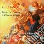 Chandos anthems hwv 249b, 251b, 256a cd musicale di HANDEL GEORG FRIEDRI