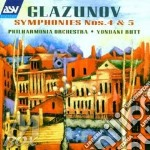 Symphonies nos .4 & 5 cd musicale di Alexander Glazunov