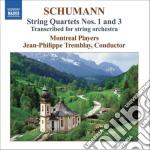 Schumann Robert - Quartetti Per Archi Nn.1 & 3 cd musicale di Robert Schumann
