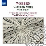 Webern Anton - Complete Songs With Piano cd musicale di Anton Webern