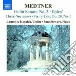 Opere per violino e pianoforte (integral cd musicale di Nicolas Medtner