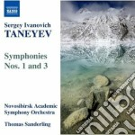 Taneyev Sergey Ivanovich - Sinfonia N.1, N.3 cd musicale di Taneyev sergey ivani