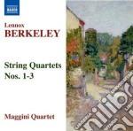 Berkeley Lennox - Quartetto Per Archi N.1 Op.6, N.2 Op.15, N.3 Op.76 cd musicale di Lennox Berkeley