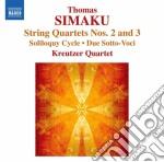 Quartetto per archi n.1, n.2; soliloquy cd musicale di Thomas Simaku