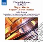Bach Wilhelm Friedemann - Opere Per Organo cd musicale di Bach wilhelm friedma