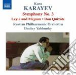Karayev Kara - Sinfonia N.3, Don Kikhot, Leyli I Mejnun cd musicale di Kara Karayev