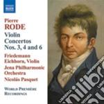 Rode Pierre - Concerto Per Violino Nn.3 Op.5, N.4 Op.6, N.6 Op.8 cd musicale di Pierre Rode