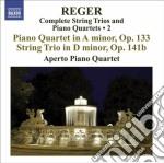 Reger Max - Trii Per Archi E Quartetti Con Pianoforte, Vol.2 cd musicale di Max Reger