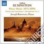 Rubinstein Anton - Tema E Variazioni Op.88, Akrostichon N.2 Op.115 cd musicale di Anton Rubinstein