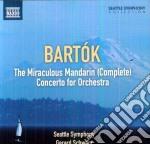 The miraculous mandarin (complete ballet cd musicale di Bela Bartok