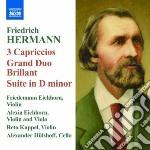 Hermann Friedrich - Capricci Per 3 Violini Nn.1-3, Grand Duobrillant Op.12, Suite  Op.17, Burleske cd musicale di Friedrich Hermann