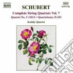 Quartetti per archi (integrale), vol.7 cd musicale di Franz Schubert