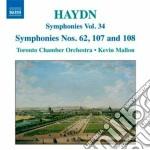 Sinfonia n.62, n.107, n.108 , la vera co cd musicale di Haydn franz joseph