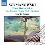 Opere per pianoforte (integrale) vol.4 cd musicale di Karol Szymanowski