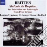 Britten Benjamin - Sinfonia Da Requiem Op.20, , Gloriana  Op.52a, 4 Sea Interludes And Passacaglia cd musicale di Benjamin Britten