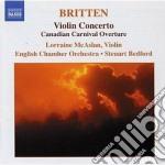 Concerto per violino, canadian carnival cd musicale di Benjamin Britten