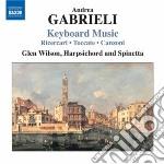 Gabrieli Andrea - Musica Per Tastiera cd musicale di Andrea Gabrieli