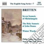 Britten Benjamin - Lirichethe English Song Series 7 cd musicale di BRITTEN