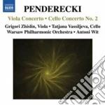 Penderecki Krzysztof - Concerto Per Viola, Concerto Per Violoncello N.2 cd musicale di Krzysztof Penderecki