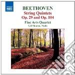 Beethoven Ludwig Van - Quintetti Per Archi Op.29, Op.104, Fuga Op.137 cd musicale di Beethoven ludwig van