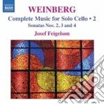 Weinberg  Mieczyslaw - Musica Per Violoncello Solo, Vol.2 cd musicale di Mieczyslaw Weinberg