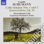 Camillo Schumann - Sonata N.1, Op.59, N.2 Op.99  Konzertstucke Op.20 cd musicale di Camillo Schumann