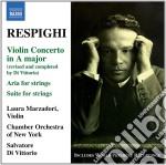 Respighi Ottorino - Concerto Per Violino, Aria Per Archi, Suite Per Archi cd musicale di Ottorino Respighi
