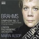 Brahms Johannes - Sinfonia N.3 Op.90, Variazioni Su Un Tema Di Haydn Op.56a cd musicale di Johannes Brahms