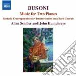 Busoni Ferruccio - Opere Per 2 Pianoforti cd musicale di Ferruccio Busoni