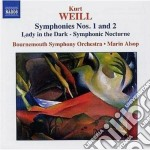 Kurt Weill - Sinfonia N.1, N.2, Lady In The Dark, Notturno Sinfonico cd musicale di Kurt Weill