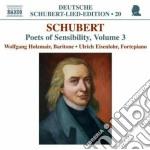 Schubert Franz - Lieder: Poets Of Sensibility Vol.3 cd musicale di Franz Schubert