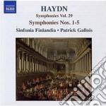 Haydn Franz Joseph - Sinfonia N.1, N.2, N.3, N.4, N.5 cd musicale di Haydn franz joseph
